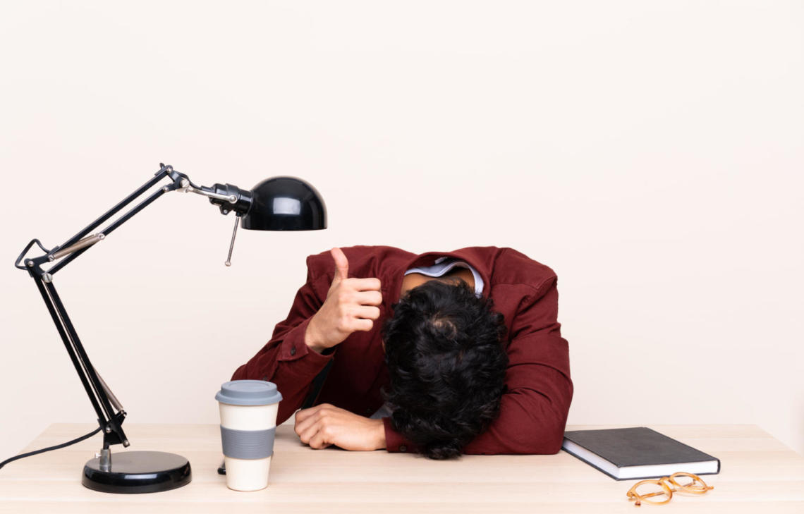 employee suffering from burn-out